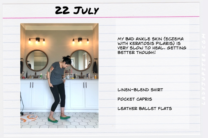 Outfits of the Day July 22. #OOTD #summer #over35 #leggings