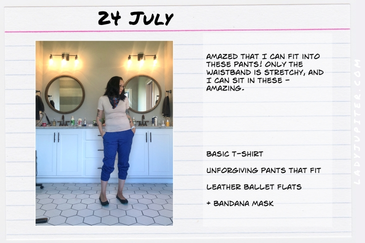 Outfits of the Day July 24. #OOTD #summer #over35 #AeriePants