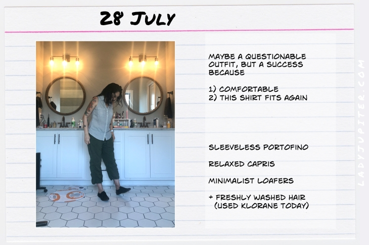Outfits of the Day July 28. #OOTD #summer #COVIDsummer #ExpressPortofino