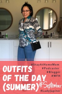 Summer 2019 Outfits of the Day. My first few shared outfits. This was hard because I hadn't lost any baby weight yet, so this is how I used clothes to hide myself! #postpartum #35F #gottastartsomewhere
