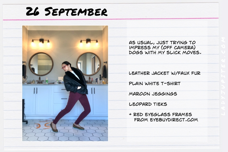 Outfits of the Day September 26. #OOTD #summer #September #LeatherJackets