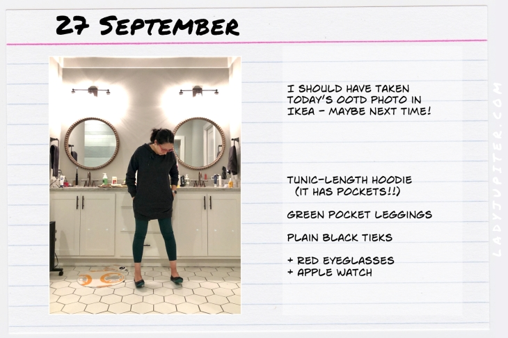 Outfits of the Day September 27. #OOTD #summer #September #longhoodie