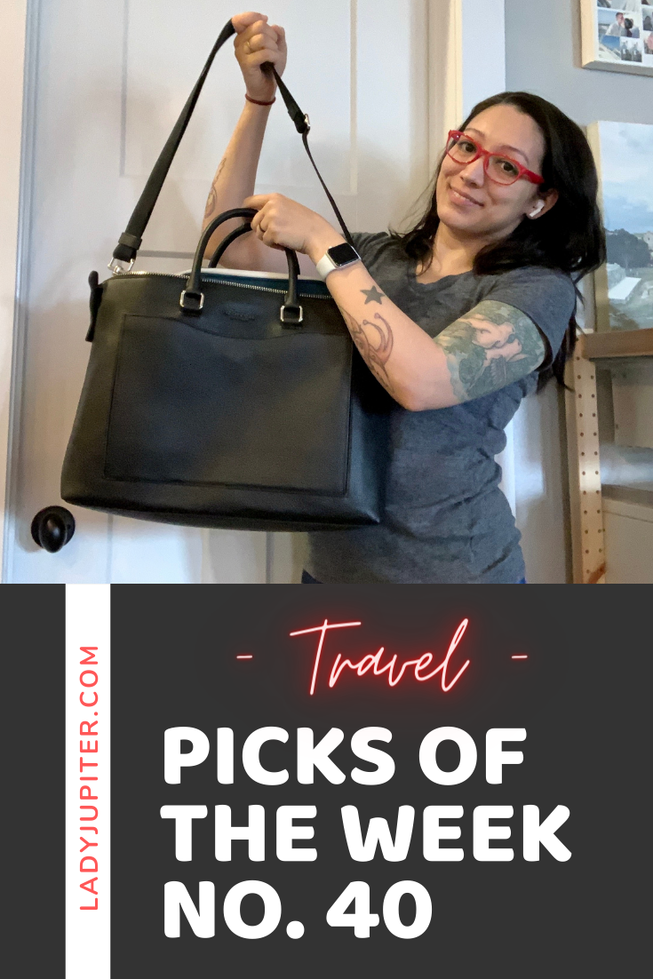 Picks №40 are a fresh batch of travel picks that will be well used on a nice long solo drive. #weekdayvacay #roadtrip #Octobertravel #LadyJupiter #PicksOfTheWeek