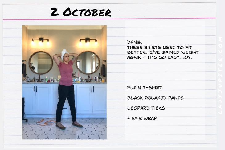 Outfits of the Day October 2. #OOTD #autumn #October #gainedweightagain #Tieks