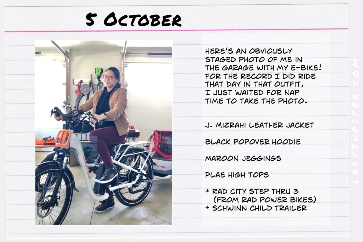 Outfits of the Day October 5. #OOTD #autumn #October #electricbike #RadBikes #Plae