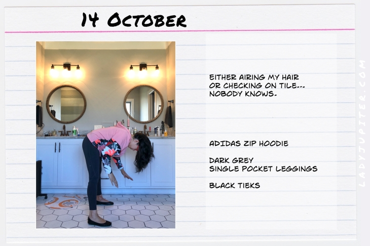 Outfits of the Day October 14. #OOTD #October #MomOutfits #LadyJupiter #leggingsoutfit #adidas