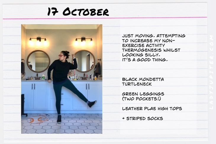 Outfits of the Day October 17. #OOTD #October #MomOutfits #LadyJupiter #leggingsoutfit #Mondetta #Plae