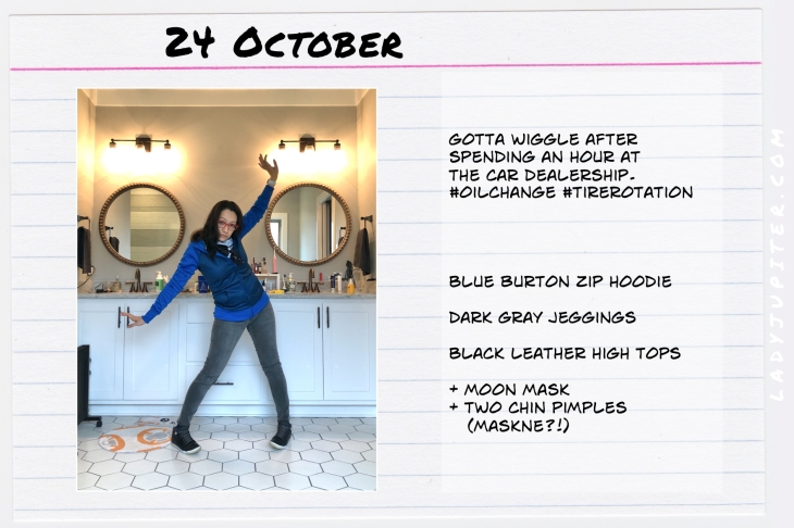 Outfits of the Day October 24. #OOTD #October #MomOutfits #LadyJupiter #Burton