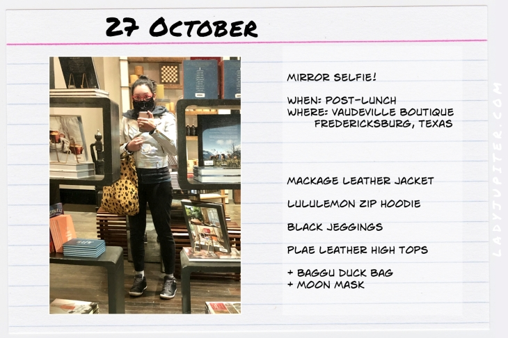 Outfits of the Day October 27. #OOTD #October #MomOutfits #LadyJupiter #MackageLeather