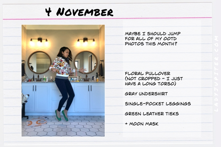 Outfits of the Day November 4. #OOTD #November #MomOutfits #LadyJupiter