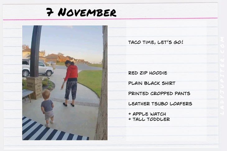 Outfits of the Day November 7. #OOTD #November #MomOutfits #LadyJupiter