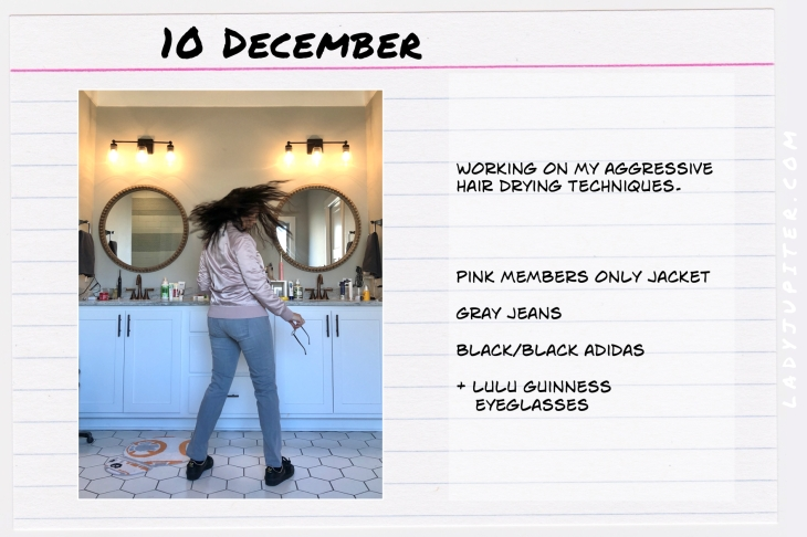 Outfits of the Day December. #OOTD #December #MomOutfits #LadyJupiter #pinkjacket