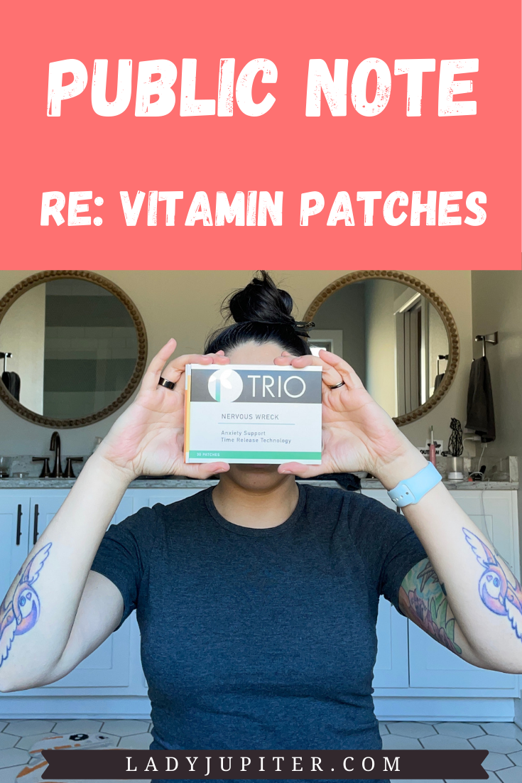 I have been trying out a variety of vitamin and supplement patches for months and I am ready to share my findings with you! #vitamins #vitaminpatches #transdermal #biohacking #SAHM #LadyJupiter #publicnotes