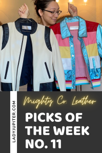 Week №11 was a great week for me to look at the daily objects that bring joy. I share my new favorite travel accessory, brand of gummy vitamins, bookmarks that won't break the page, plus cheerful leather jackets and text threads that I enjoy being a part of. #PicksoftheWeek #LadyJupiter