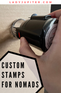 Are custom address stamps manageable for nomads? How can stamps be relevant for several moves? From one nomad to another -I got you- and I have a solution.