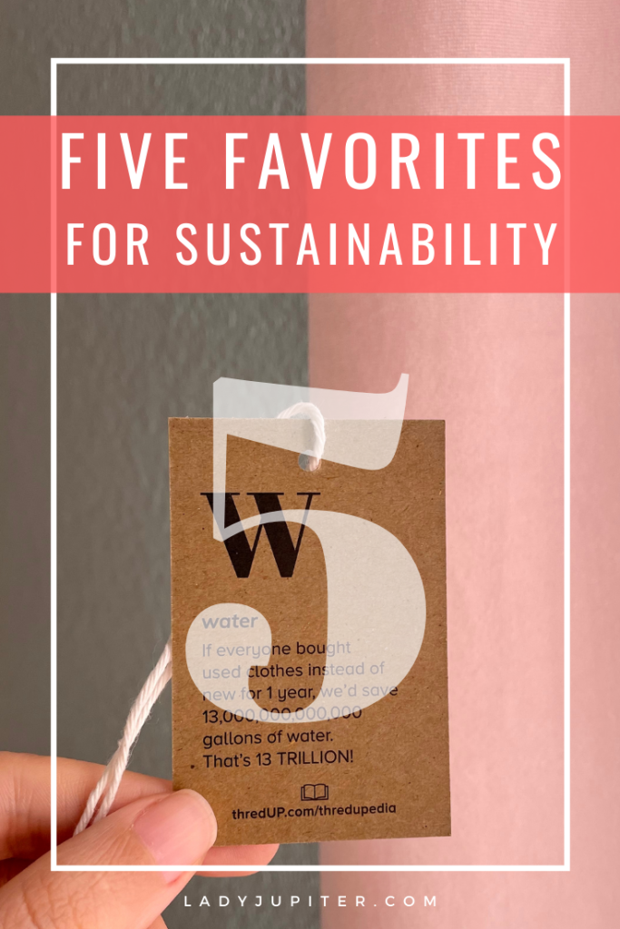 I love sharing favorite things, and today I have Five Favorites for Sustainability - because I dislike single-use products and strive to reduce, reuse, and recycle DAILY.