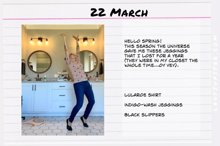 Spring Outfits of the Day. #OOTD #March #MomOutfits #LadyJupiter #polkadots