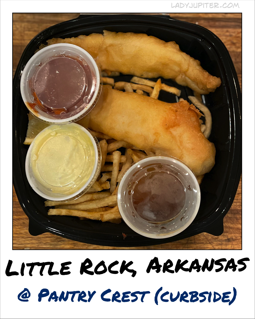 Fish & Chips at Pantry Crest again - but this is the curbside version. #PantryCrest #Hillcrest #LittleRockArkansas