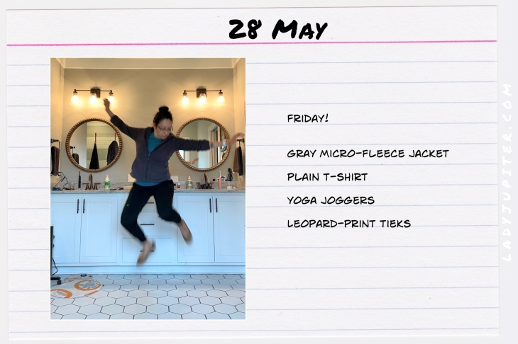Spring Outfits of the Day. #OOTD #May #MomOutfits #LadyJupiter #jumping