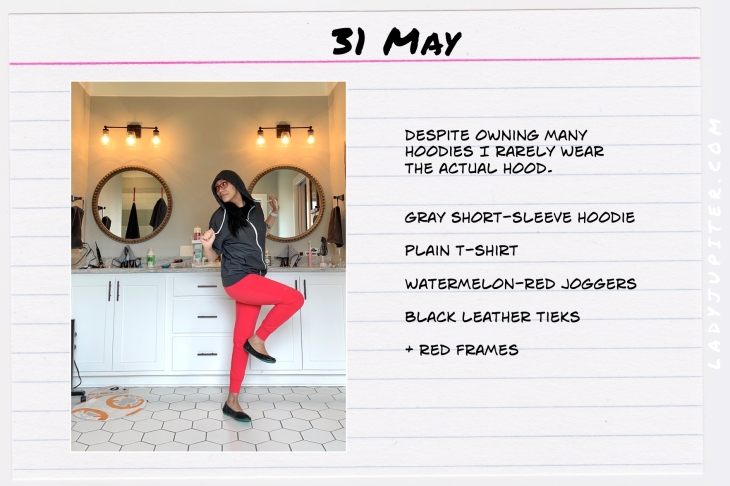 Spring Outfits of the Day. #OOTD #May #MomOutfits #LadyJupiter #hoodies