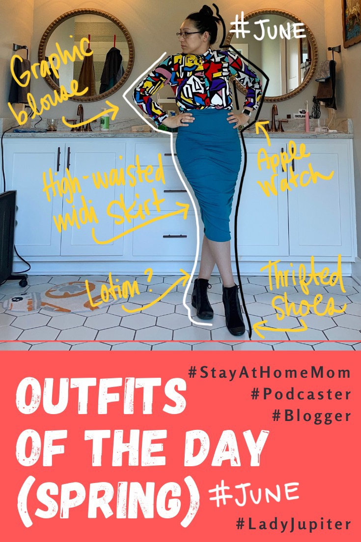 Spring Outfits of the Day. #OOTD #June #MomOutfits #LadyJupiter #DressUP