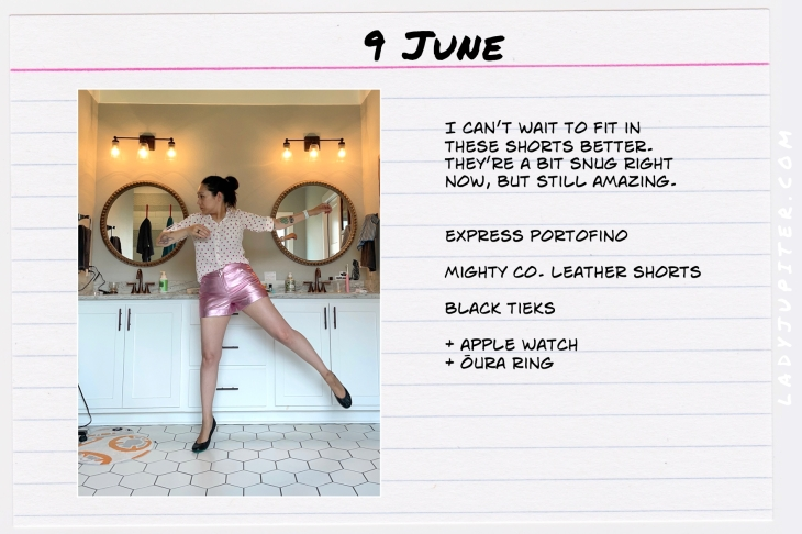 Spring Outfits of the Day. #OOTD #June #MomOutfits #LadyJupiter #SummerOutfits #MightyCo #LeatherShorts