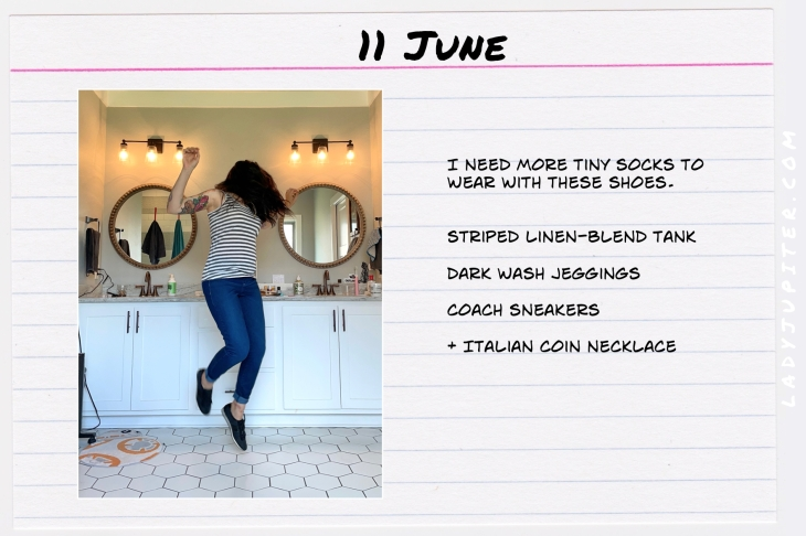 Spring Outfits of the Day. #OOTD #June #MomOutfits #LadyJupiter #CoachShoes