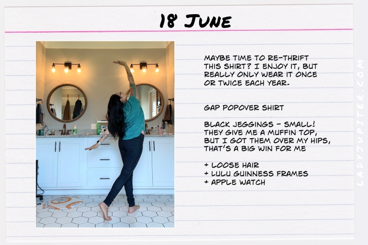 Spring Outfits of the Day. #OOTD #June #MomOutfits #LadyJupiter #BlackJeggings