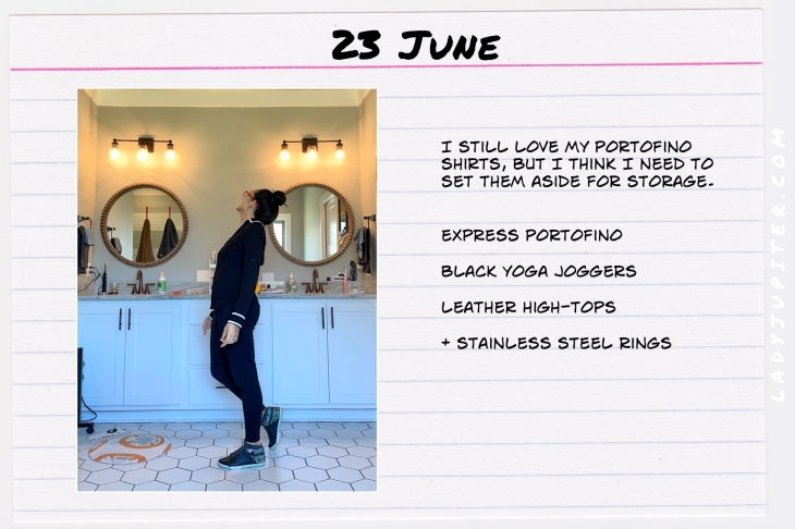 Summer Outfits of the Day. #OOTD #June #MomOutfits #LadyJupiter #blackonblack