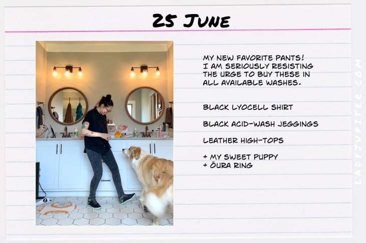 Summer Outfits of the Day. #OOTD #June #MomOutfits #LadyJupiter #puppy