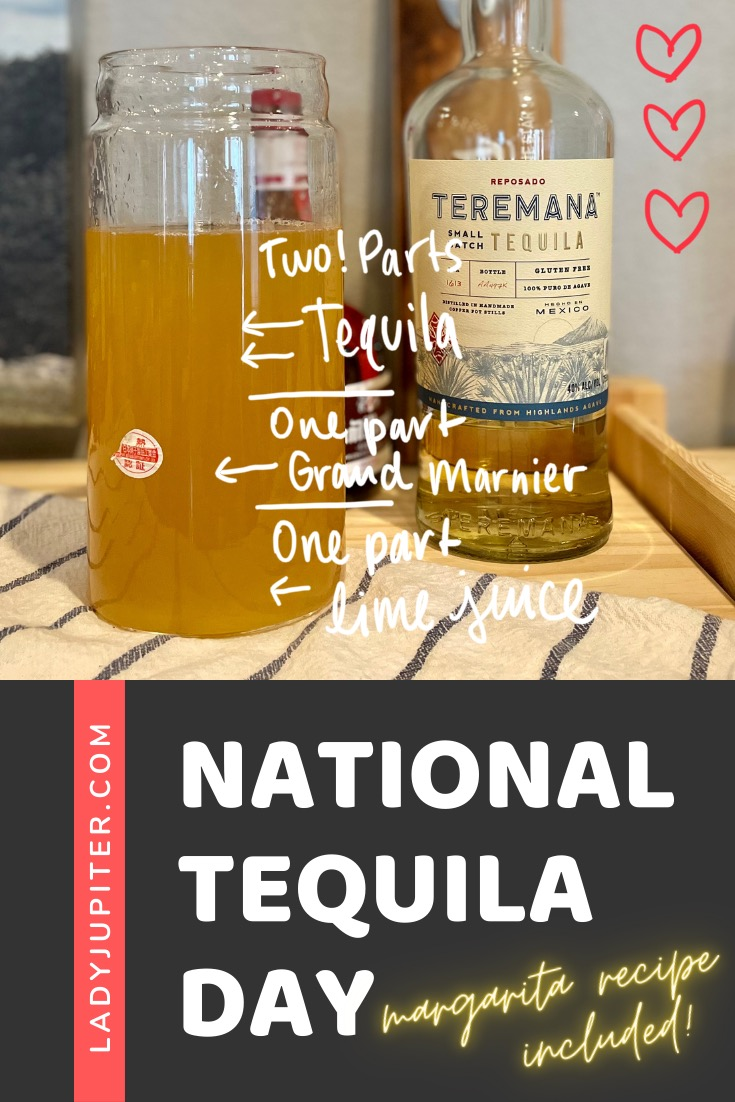 Happy National Tequila Day! Here's my favorite recipe, favorite method, and...that's it. Simple is good! #LadyJupiter #NationalTequilaDay #margaritas #recipes