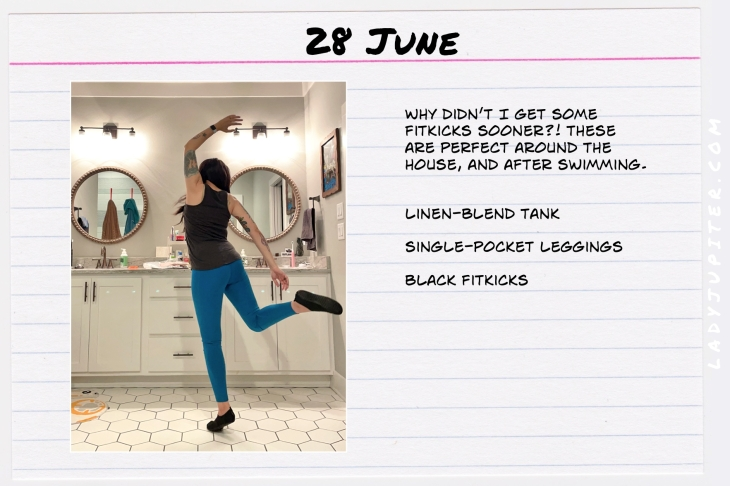 Summer Outfits of the Day. #OOTD #June #MomOutfits #LadyJupiter #FitKicks