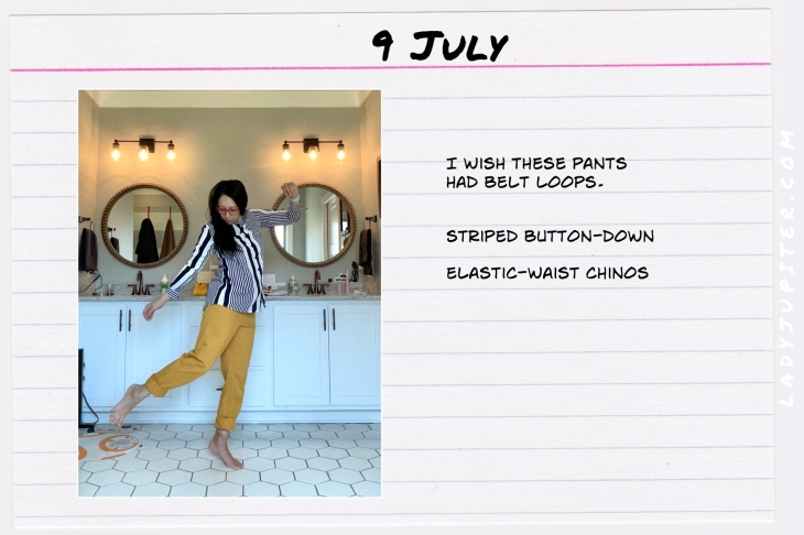 Summer Outfits of the Day. #OOTD #July #MomOutfits #LadyJupiter #cuffedchinos