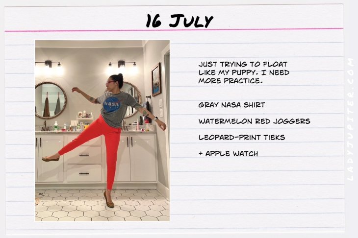 Summer Outfits of the Day. #OOTD #July #MomOutfits #LadyJupiter #redpants