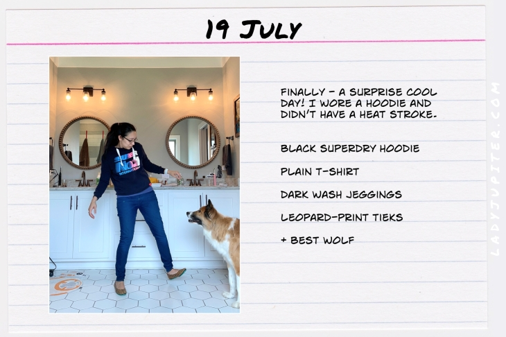Summer Outfits of the Day. #OOTD #July #MomOutfits #LadyJupiter #SuperDryTokyo