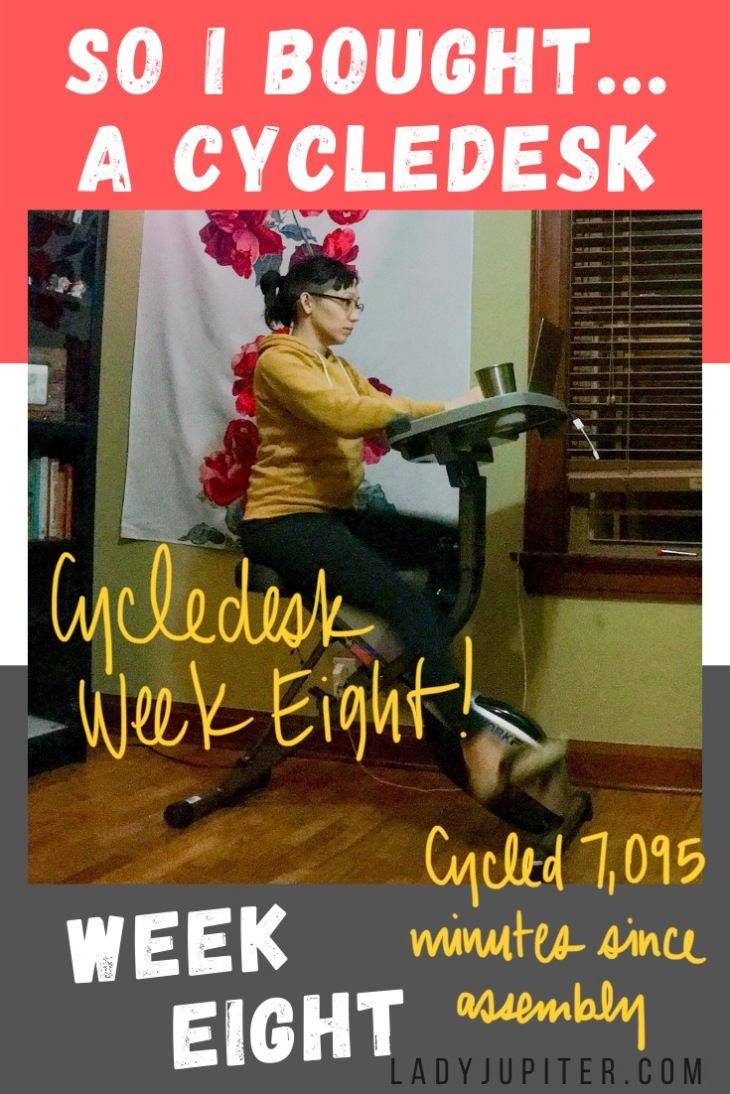 So I Bought...a cycledesk! You know when you work from home and need to move more? I got a cycledesk to get moving - here's what changed (and stayed the same). #LadyJupiter #SoIBought #progress