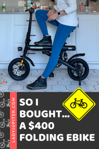 So I bought...a $400 folding ebike! I thought that I could save money and still have fun, but what I really learned was to stick with your trusted sellers. #LadyJupiter #alwayslearning #foldingbikes #ebikes #RadPowerBikes #Amazon