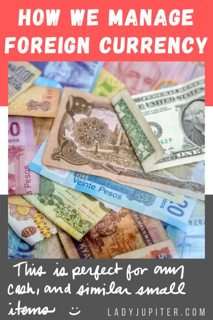 Here's a quick post about how we manage foreign currency. It's just a little bit of practical organization, enjoy! #LadyJupiter #foreigncurrency #worldcurrencies #worldtravels