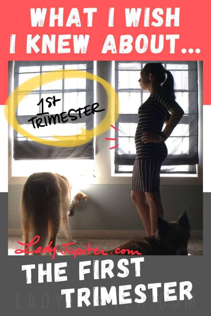 What I wish I knew about the first trimester! From overnight curves to an accidental salad diet, here's a quick read about what I wish I knew, but also what I got right. #LadyJupiter #WhatIWishIKnew #pregnancy #firsttrimester