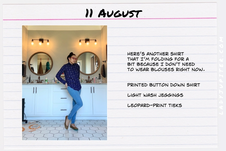 Summer Outfits of the Day. #OOTD #August #MomOutfits #LadyJupiter #MossimoShirt