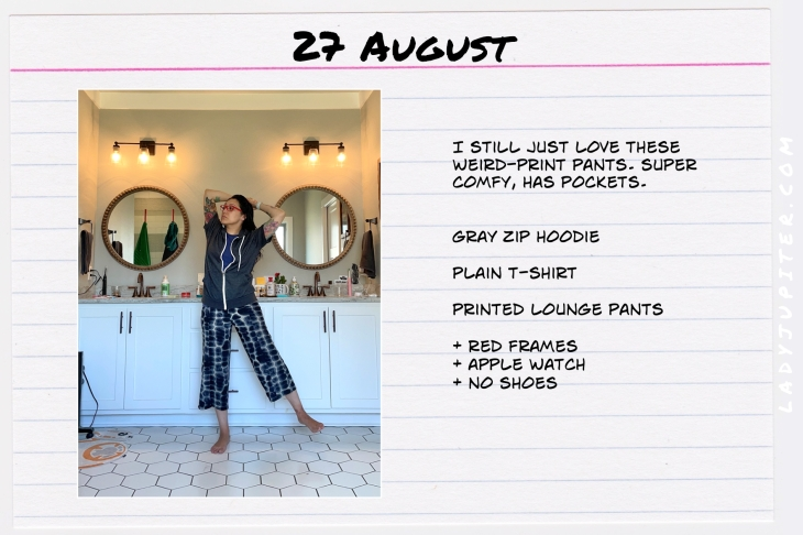 Summer Outfits of the Day. #OOTD #August #MomOutfits #LadyJupiter #loungepants