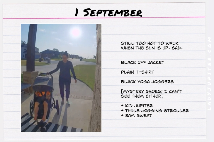 Outfits of the Day, September! #OOTD #September #MomOutfits #LadyJupiter #Thule