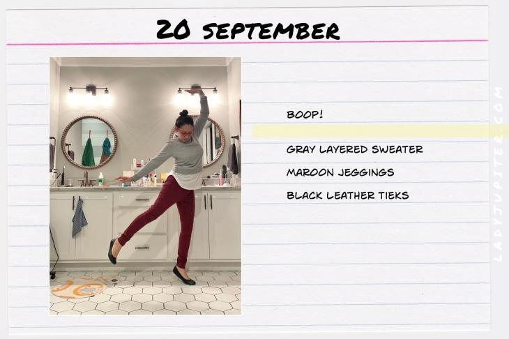 Outfits of the Day, September! #OOTD #September #MomOutfits #LadyJupiter #Tieks