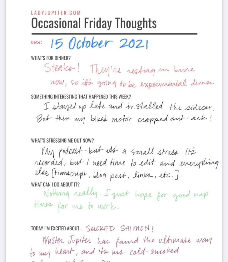 15 October. Experimental Friday Jupiter; just having fun making and sharing digital notes. #LadyJupiter #DailyJupiter #Friday #Notes