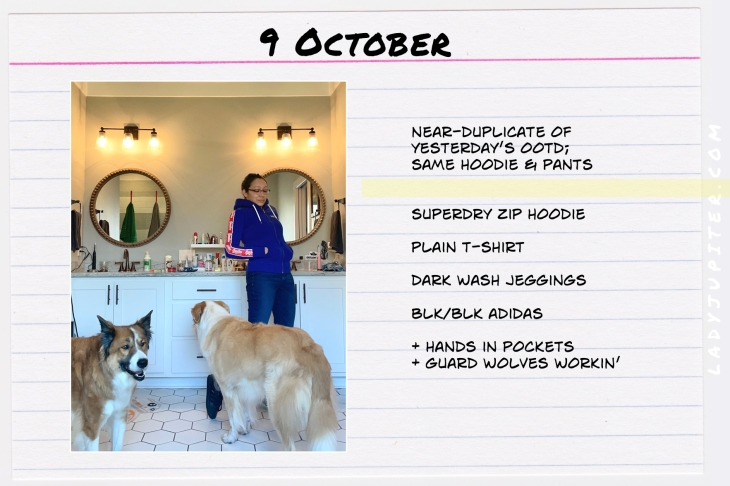 Outfits of the Day, Q4! Here's what I wore this quarter. I'm a hobby-blogger with a toddler, here's what I like to wear. #OOTD #MomOutfits #MomStyle #October #SuperDry